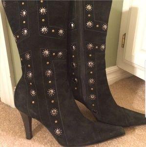 Antonio Melani black suede boots